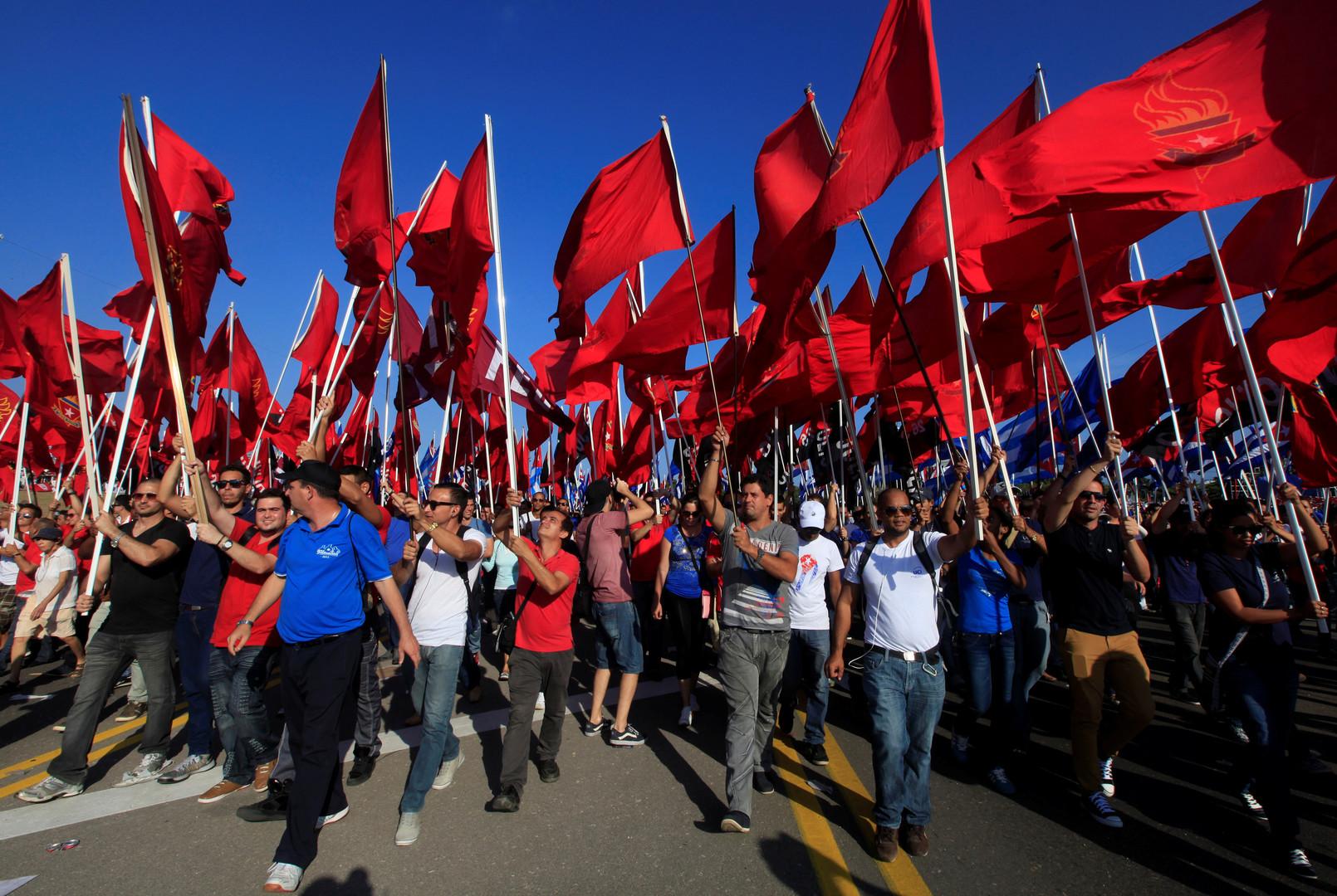 Bildergalerie zum Kampftag 1. Mai: Demonstrationen weltweit