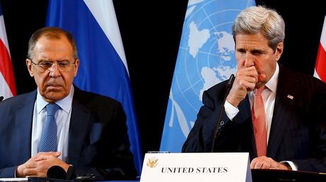 Russlands Außenminister Sergei Lawrow und US-Außenmnister John Kerry