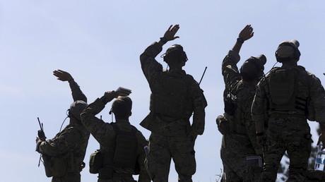 US-amerikanische Militärs beim Manöver Saber Strike 2015