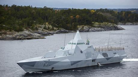 Die schwedische Korvette HMS Visby auf der bisher erfolglosen Suche nach russischen Trolls in den Fjorden um Stockholm.