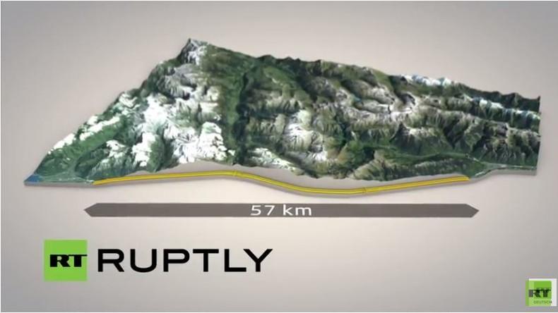 Live: Einweihung des Gotthard-Basis-Tunnels zwischen Zürich und Mailand - längster Tunnel der Welt