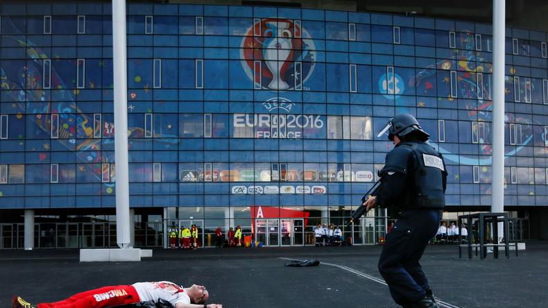 Französische Sondereinheit bei einem Notfalltraining zur EM 2016.