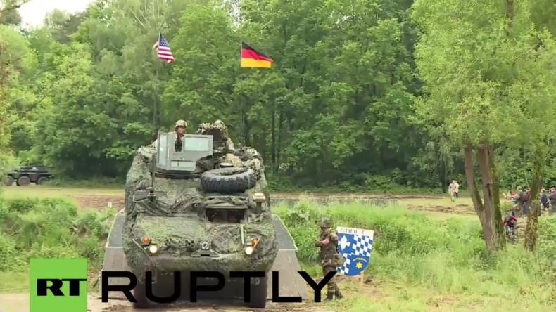"""""""Dragoon Ride II"""" der NATO - US-Armee und Bundeswehr trainieren gemeinsam in Bayern"""