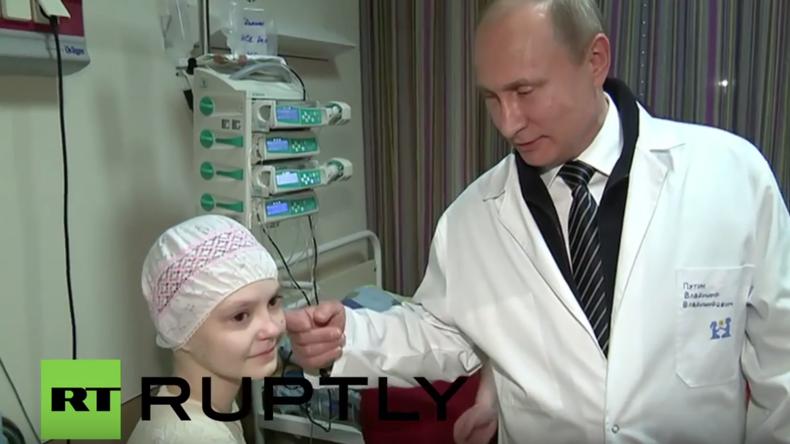 Moskau: Putin besucht zum internationalen Kindertag Kinder-Krebszentrum