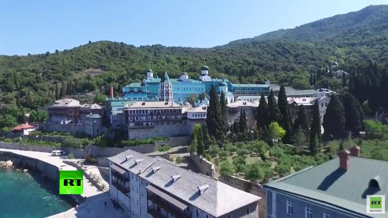 """Griechenland: Drohnenüberflug des """"Heilgen Berges"""" des orthodoxen Christentums Berg Athos"""