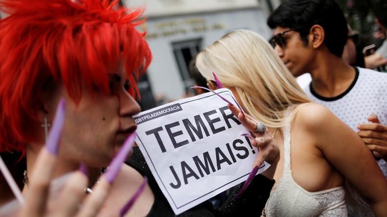 """""""Es war ein Putsch"""" - Anwachsende Protestwelle gegen Brasiliens Übergangspräsidenten Michel Temer"""