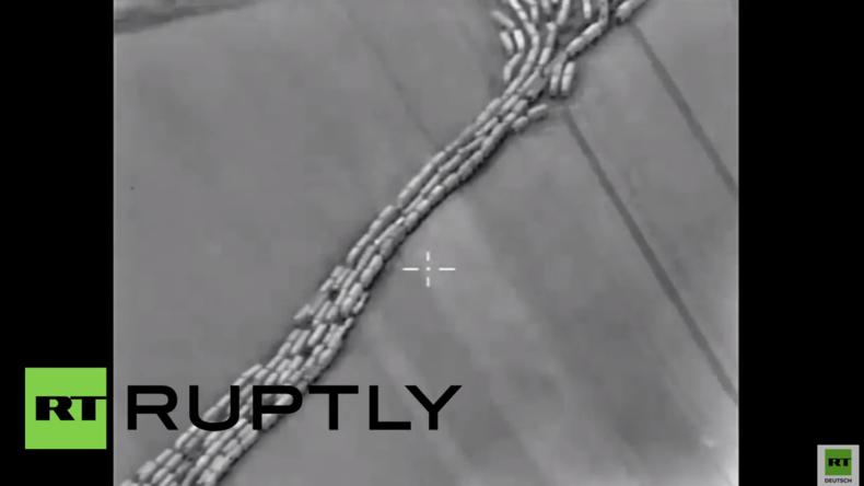 Russland veröffentlicht Beweisvideo für Waffenlieferungen aus der Türkei nach Syrien