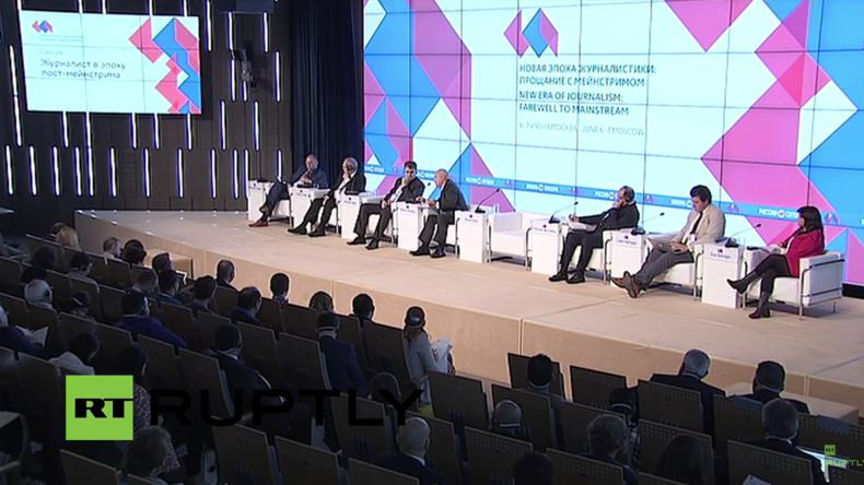 """Live: """"Neue Ära des Journalismus - Abschied vom Mainstream"""" – Rossija Segodnjas Medienforum"""