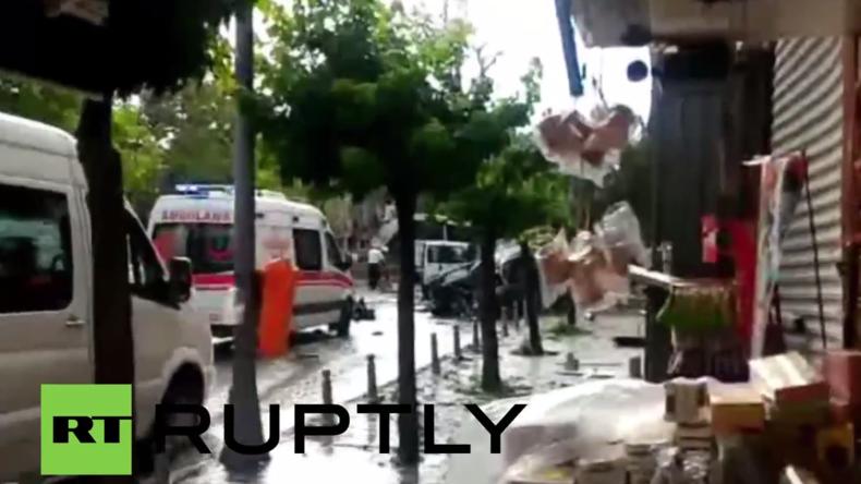 Türkei: Mindestens elf Tote und 36 Verletzte nach Anschlag im Zentrum von Istanbul