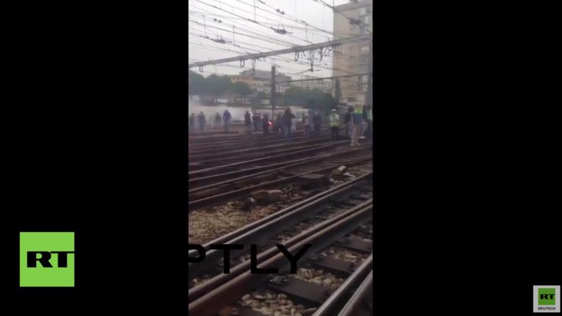 Frankreich: Bahnarbeiter blockieren Bahnverkehr in Paris aus Protest gegen Arbeitsrechtsreform
