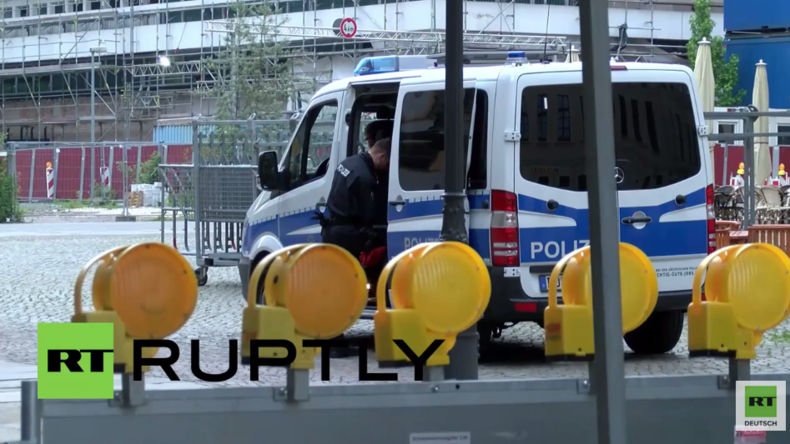 Dresden: Massive Polizeipräsenz zu Beginn des Bilderbergtreffens