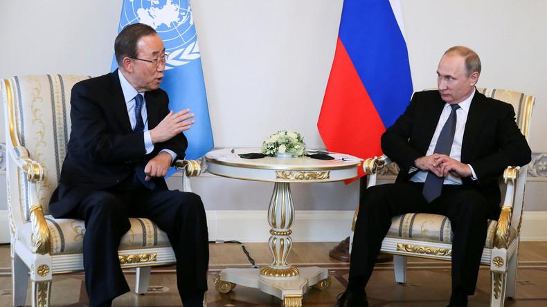 """Trotz Protest aus Kiew: Ban Ki-Moon steht zu Aussage """"Russland hat führende Rolle in der Welt inne"""""""