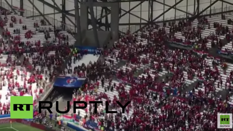 Frankreich: Fans schlagen sich mit Polizei im Stadion vor EM-Spiel: Island gegen Ungarn