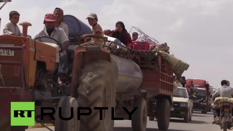 Syrien: Anti-IS-Offensive ermöglicht Hunderten Zivilisten Flucht aus IS-Gebieten