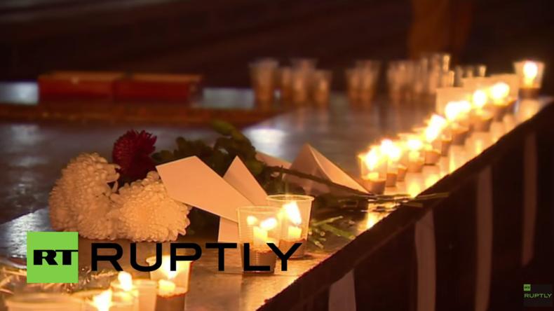 Moskau gedenkt Millionen Toten des Großen Vaterländischen Krieges mit Kerzenlicht-Zeremonie