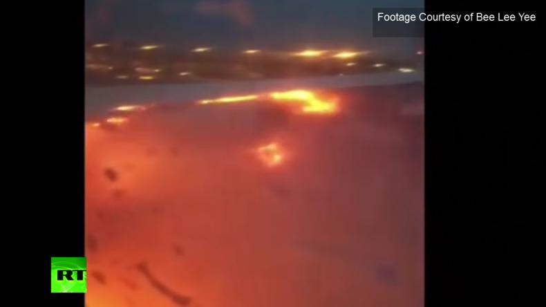 Dem Tode nah – Gefangen in einem brennenden Flugzeug – Triebwerk fängt bei Notlandung Feuer