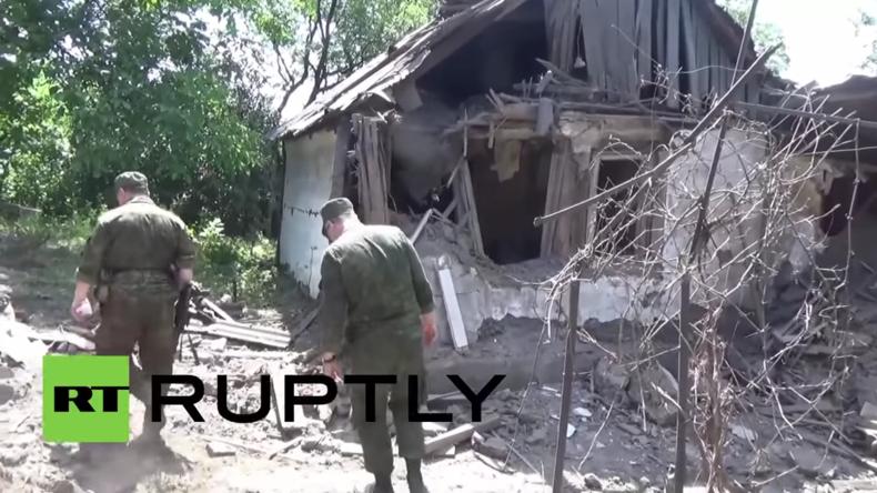 """Ukrainische Armee beschießt erneut Wohnviertel in Gorlowka: """"Hier ist kein Militär – nur Zivilisten"""""""