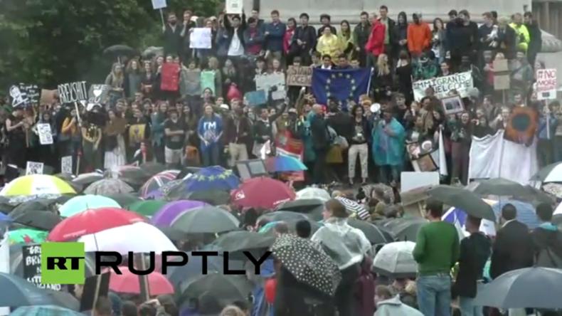 Live: Referendum spaltet Großbritannien – Protest gegen den Brexit in London