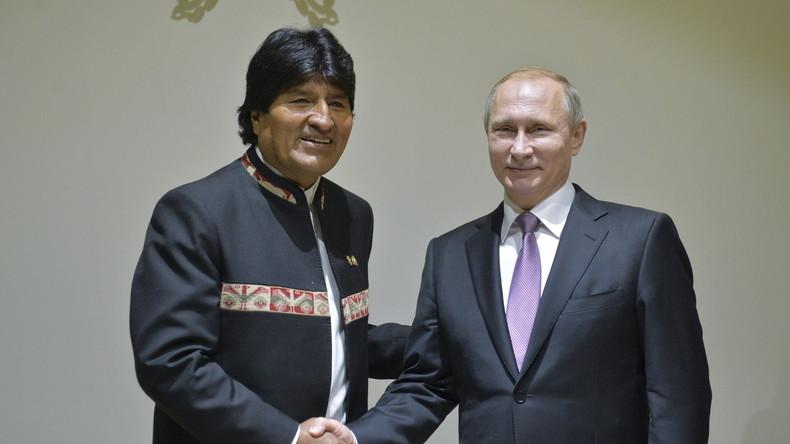Boliviens Präsident Morales lädt russischen Staatschef Putin zu Gasforum ein