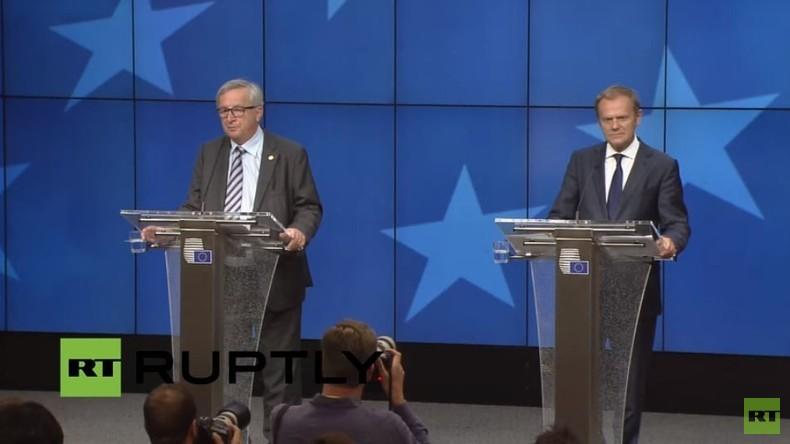 Live: Tusk und Juncker geben gemeinsame Pressekonferenz zum Brexit-Referendum