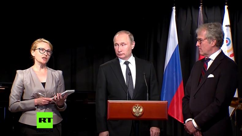 Putin wirbt vor Schülern für Freundschaft mit Deutschland