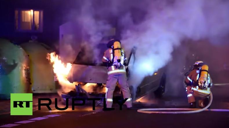 Wieder brennen Autos in Berlin: Georgisches und französisches Diplomaten-Auto in Brand gesetzt