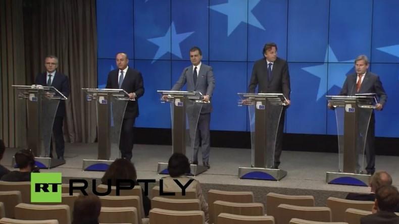 Live: EU-Türkei Gespräche zu visa-freiem Reisen - Pressekonferenz in Brüssel (deutsche Übersetzung)