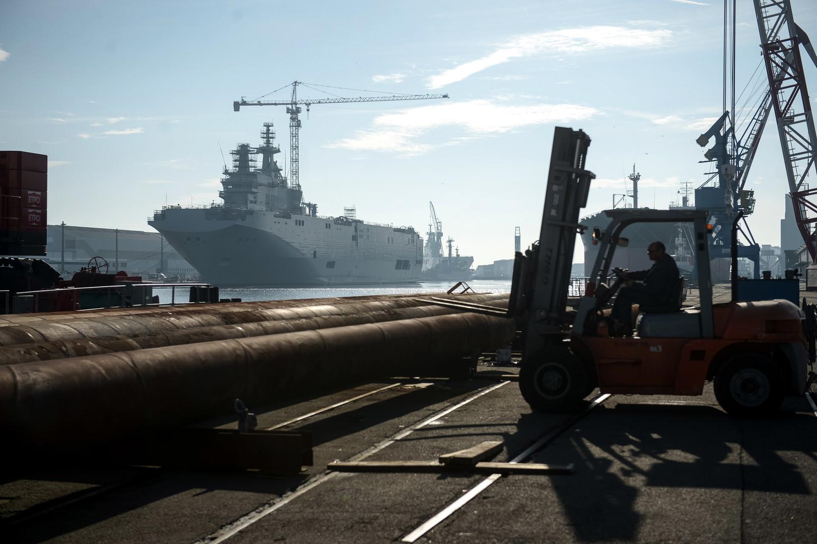 Frankreich übergibt am 2. Juni einst für Russland produzierten Hubschrauberträger Mistral an Ägypten