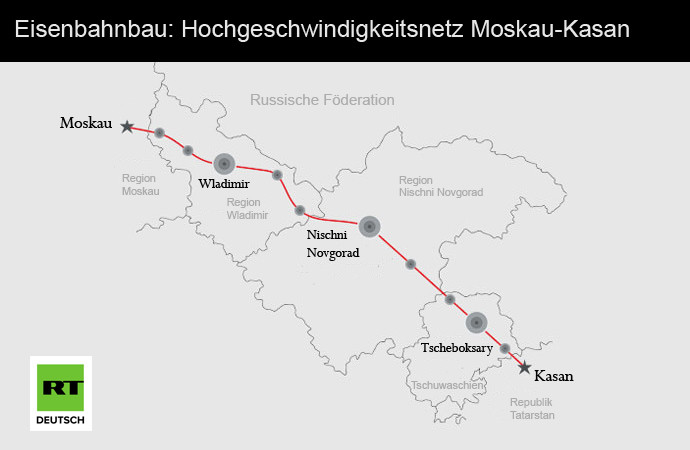 Eisenbahnbau: Hochgeschwindigkeitsnetz soll Transportwege zwischen China und Russland verkürzen