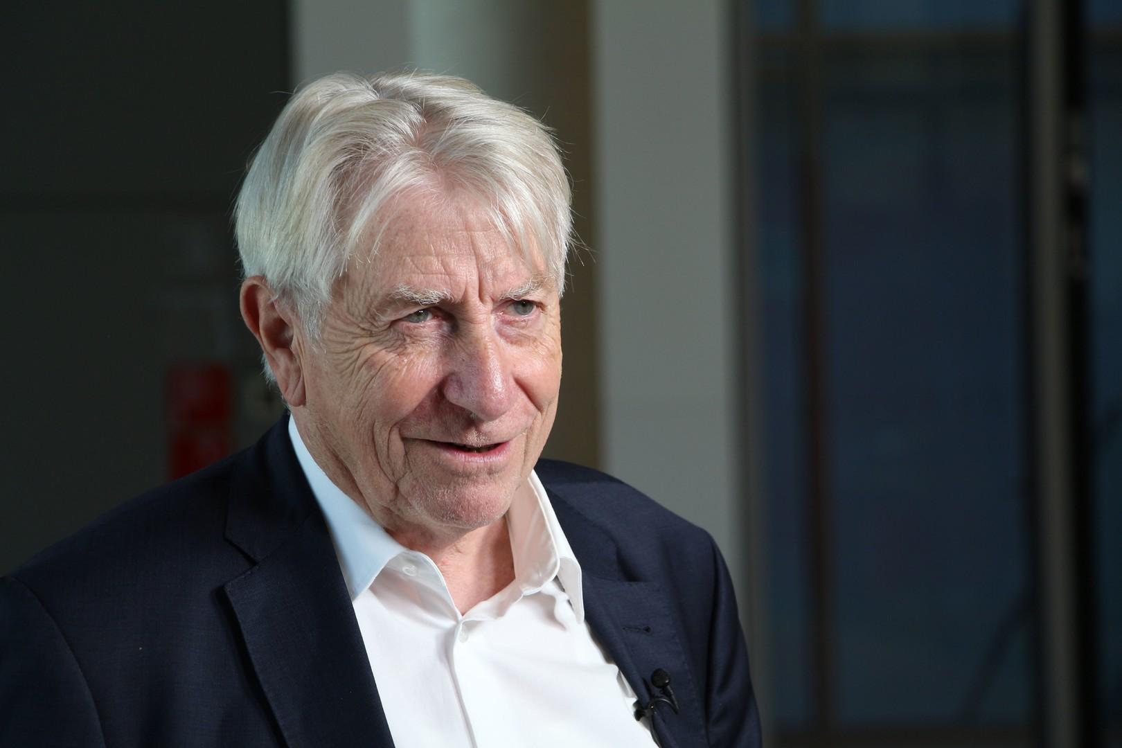 """Wolfgang Gehrke, Stellvertretender Fraktionsvorsitzender Die Linke, reiste in den vergangenen Jahren mehrmals in die Ostukraine. Er unterstützt die """"Humanitäre Aktion für Gorlowka""""."""