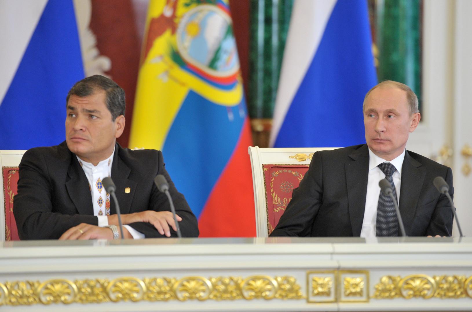 Rafael Correa und Wladimir Putin
