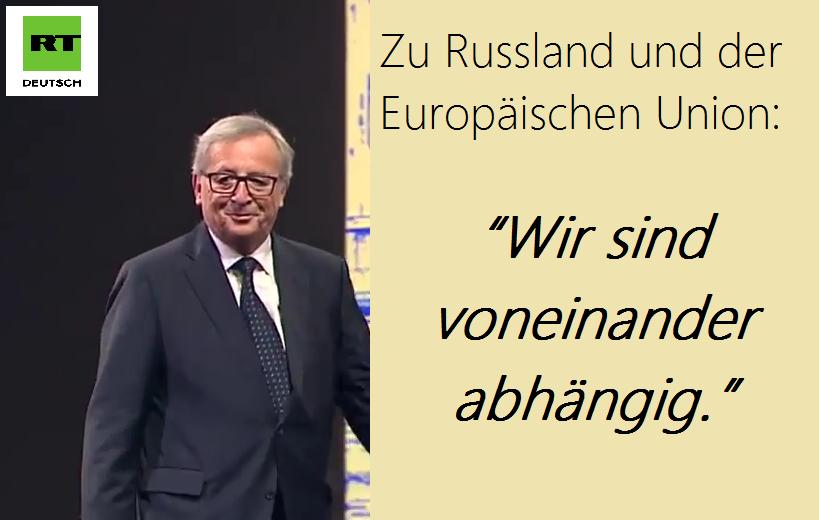 Juncker in Russland: Ich bin hier, um Brücken zu bauen, auch wenn einige diese Idee nicht mögen