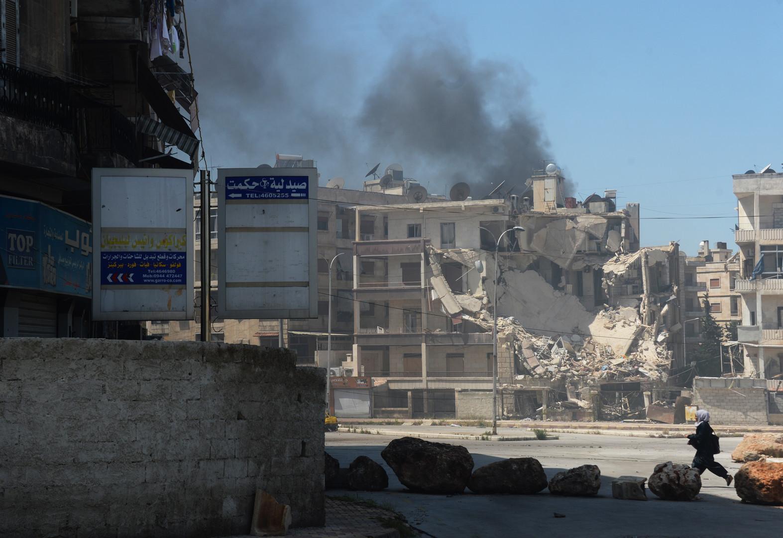 Aleppo unter Beschuss