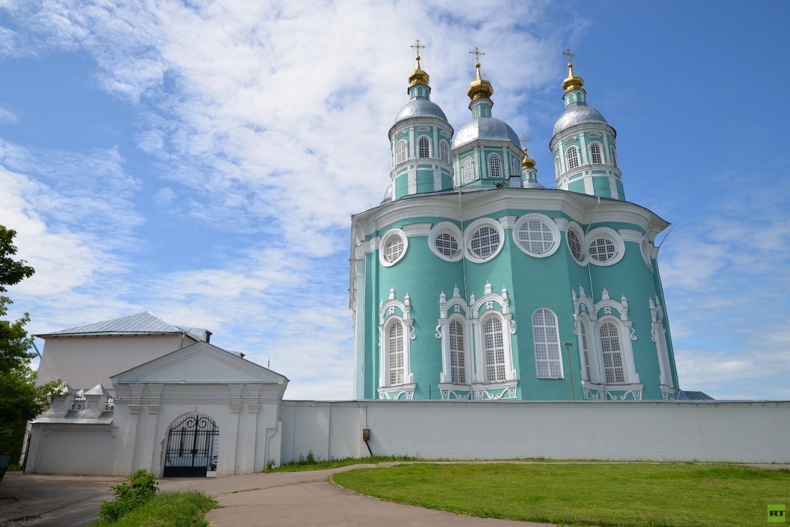 Die Maria-Himmelfahrt-Kathedrale in Smolensk.