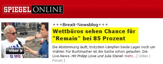 Brexit: Deutsche Medien massenhaft auf gefälschte Wettquoten reingefallen?
