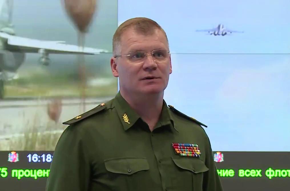 Generalmajor Igor Konaschenkow, Amtssprecher des Verteidigungsministeriums Russlands
