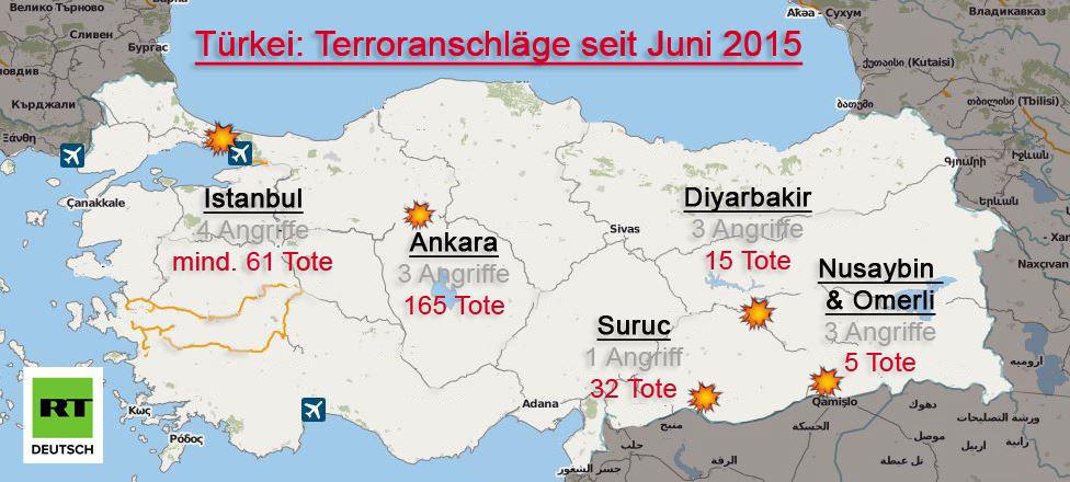 UPDATE: Zahl der Toten nach Anschlag auf Atatürk-Flughafen in Istanbul steigt auf 41