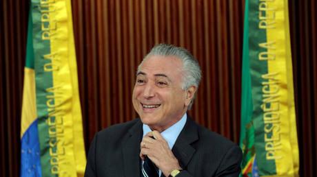 Freut sich über medialen Zuspruch und Unterstützung von der Wall Street und dem US State Department: Brasiliens Übergangspräsident Michel Temer.
