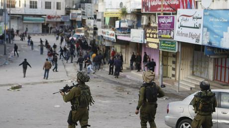 Symbolbild - IDF-Soldaten im besetzten Hebron, Westbank.