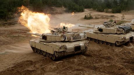 U.S. M1 Abrams Panzer im Einsatz während des NATO-Manövers