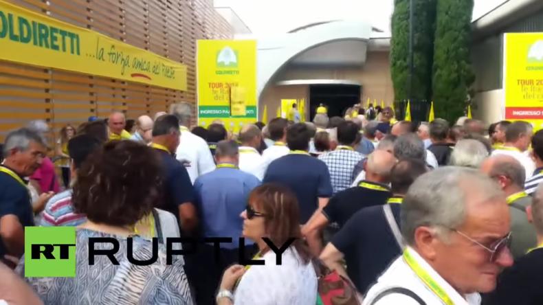 Italien: Tausende protestieren gegen Verlängerung der Sanktionen gegen Russland