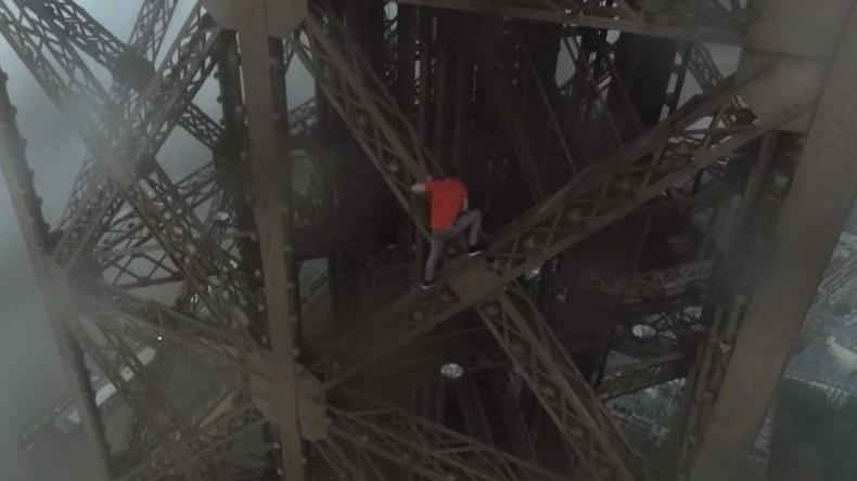 Zwei Russen erkunden Paris aus der Vogelperspektive: Extremkletterer erklimmen den Eiffelturm