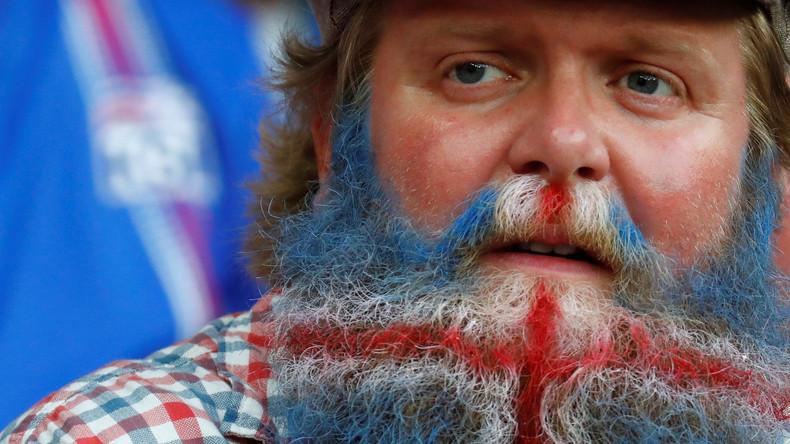 Fußballfan bei der Euro 2016 in Frankreich  – England gegen Island