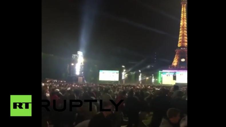Paris: Knallkörper verursachen Massenpanik unter Fußball-Fans während Deutschland-Italien-Spiel