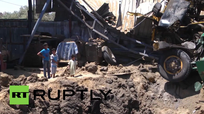 Palästina: Mehrere Gebäude nach israelischen Luftangriffen auf den Gazastreifen zerstört