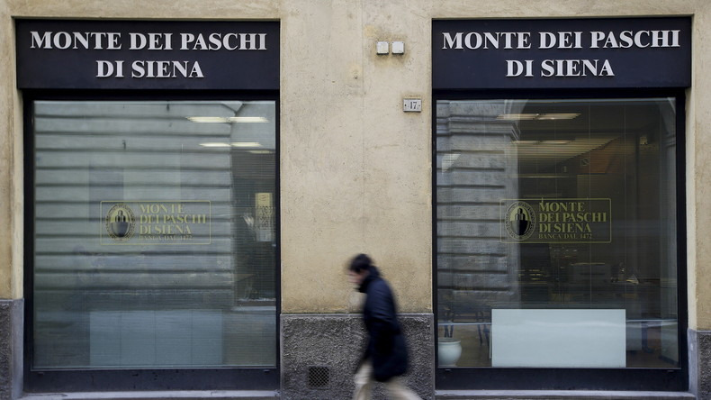Rette sich wer kann: Eine Filiale der italienischen Banca Monte dei Paschi