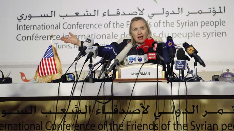 Wie Hillary Clinton denkt: Krieg gegen Syrien ist eine gute Lösung, solange Russland nicht eingreift