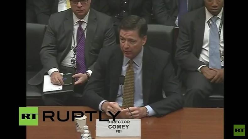 Live: FBI-Direktor als Zeuge vor Aufsichtskommission über Clintons Nutzung von privatem Emailserver