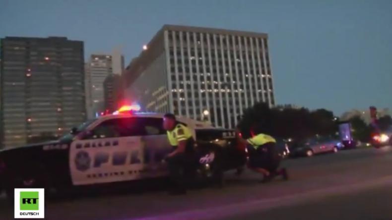 Dramatische Szenen aus Dallas: Schüsse fliegen – Menschen fliehen verzweifelt