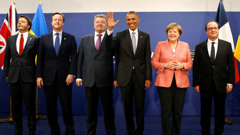 Freudige Gesichter auf dem NATO-Gipfel in Warschau